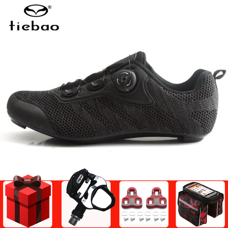 Tiebao Men Road Cycling Shoes Bike Sapatilha Ciclismo Racing Triathlon Zapatillas Ciclismo Breathable Bike Hombre Sneakers Women