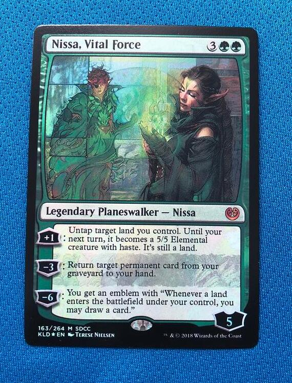 Nissa, Vital Force	San Diego Comic-Con 2018 Foil Magician ProxyKing 8.0 VIP The Proxy Cards To Gathering Every Single Mg Card.