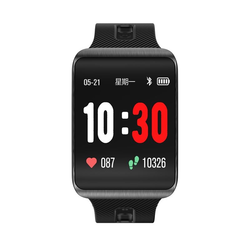 Gt98 Curved Screen Smart Watch Men Heart Rate Monitor 15 Day Standby Fitness Bracelet Activity Tracker Replaceable Strap in Smart Watches from Consumer Electronics