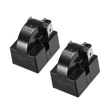 2 Pcs 4.7 Ohm 2 Pin Refrigerator PTC Starter Relay Black 2 pcs 15 ohm 1 pin refrigerator ptc starter relay black