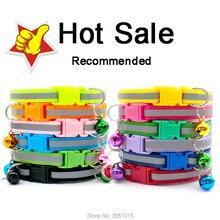 Groothandel 100Pcs Reflecterende Puppy Kat Kraag Verstelbare Mooie Halsbanden Huisdieren Halsbanden Dog Tag Met Bells Dierbenodigdheden
