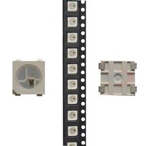 Image 2 - 100 ~ 1000pcs WS2812B LED שבב; 5050 RGB SMD;WS2812; בנפרד מיעון דיגיטלי; DC5V; שחור/לבן גרסה
