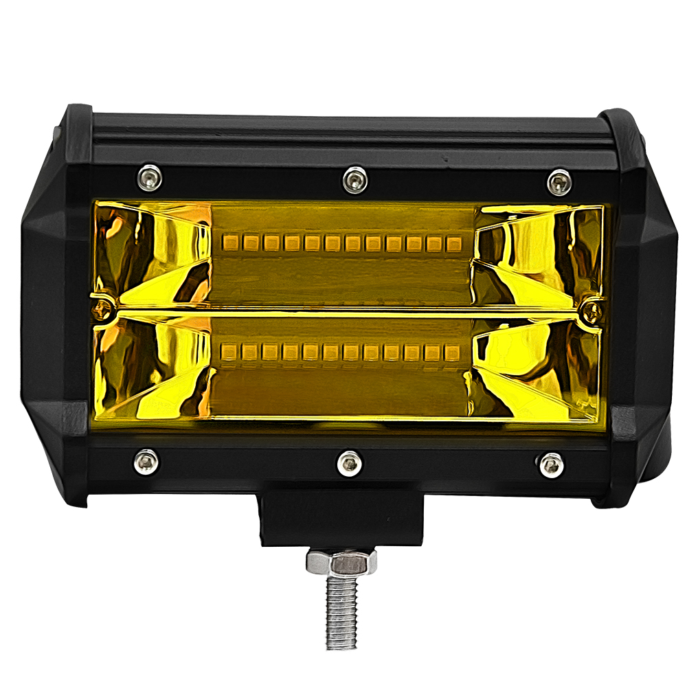5inch 72W 3000K Two-row LED Strip Lights Spotlight Lamp Drive Modified Off-road Vehicle Lights Roof LED Work Light