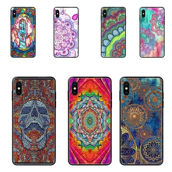 Best Price Tpu Black Soft Black Phone Case Hand Mandala Singleton Hippie For Xiaomi Mi Note A1 A2 A3 5 5s 6 8 9 10 SE Lite Pro image