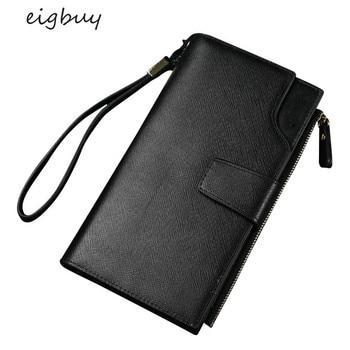 2020 Fashion Wallet Mass Men Handbag Long Wallet Multi-Function Zipper Wallet Holding Wallet PU Leather Embossed Wallet фото