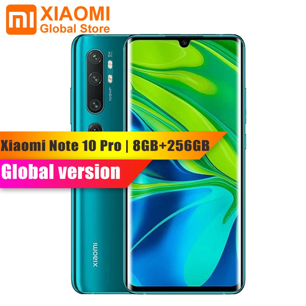 Globale Version Xiao mi mi Hinweis 10 Pro 8GB 256GB Handy NFC Snapdragon 730G 108MP Cam 5260mAh 30W Schnelle Lade <font><b>Smartphone</b></font> image