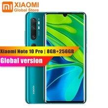 Globale Versione Xiaomi Mi Nota 10 Pro 8GB 256GB Del Telefono Mobile NFC Snapdragon 730G 108MP Cam 5260mAh 30W Veloce di Ricarica Per Smartphone