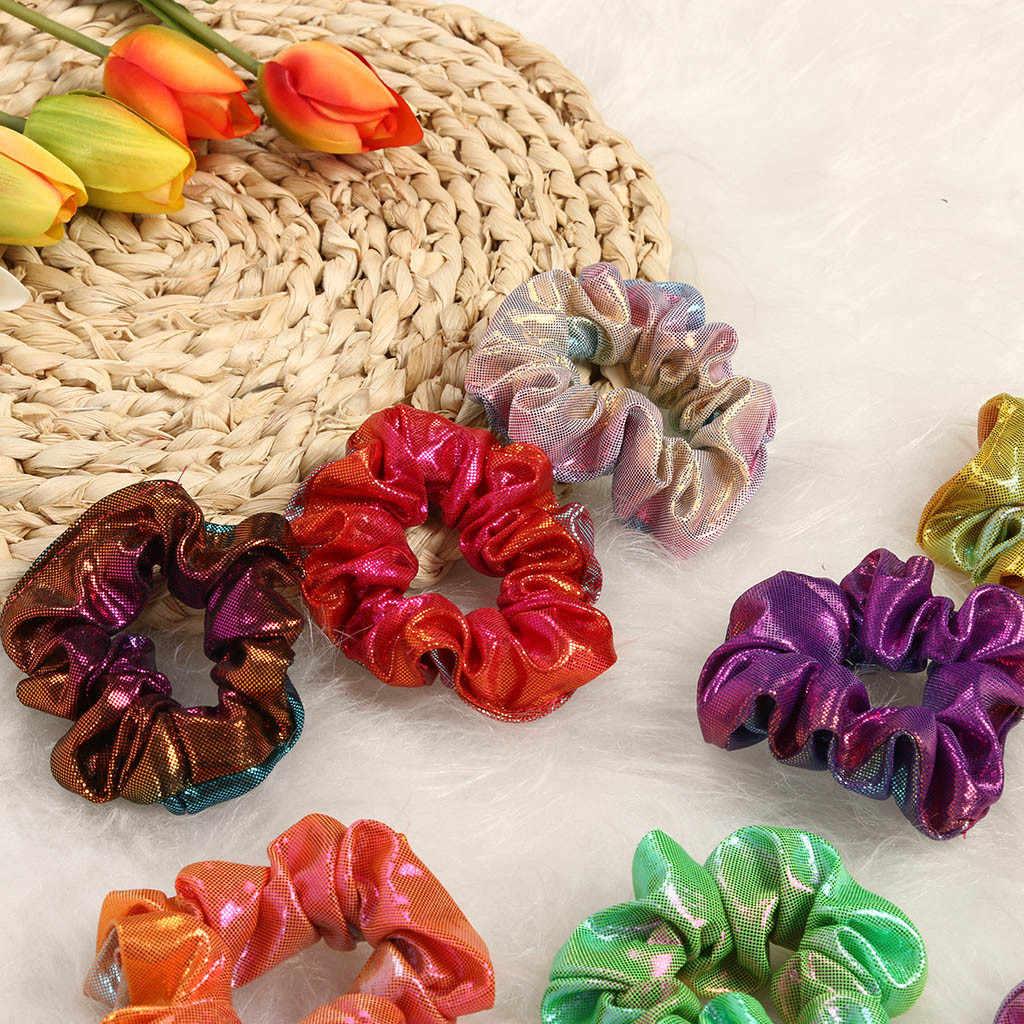 Brokat kolorowe liny kucyk Holder akcesoria do włosów dla dziewczynek i kobiet wysokiej jakości i nowe opaski do włosów