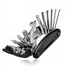 Portable socket MTB Ciclo de montaña llave multipropósito de gira bolsillo destornillador para múltiples herramientas motocicleta bicicleta allen fix