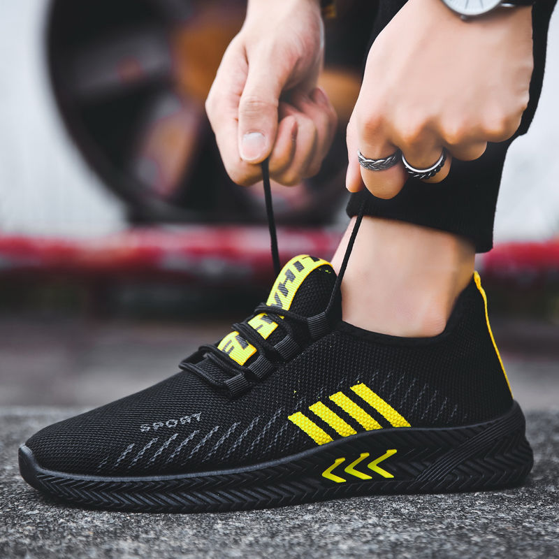 2019 Autumn And Winter New Style Deodorizing Breathable Casual Sports Shoes Men Running Trendy Shoes Versatile Sneakers Mesh Sho