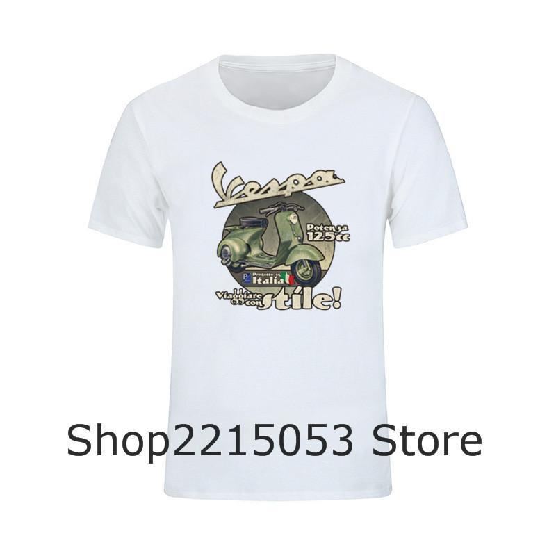 2020 männer T shirts Reise in Stil Vespa Motorrad T-Shirts T-shirts MÄNNLICHEN TEES junsun a760 starline b9 pelz sitz abdeckung bandana