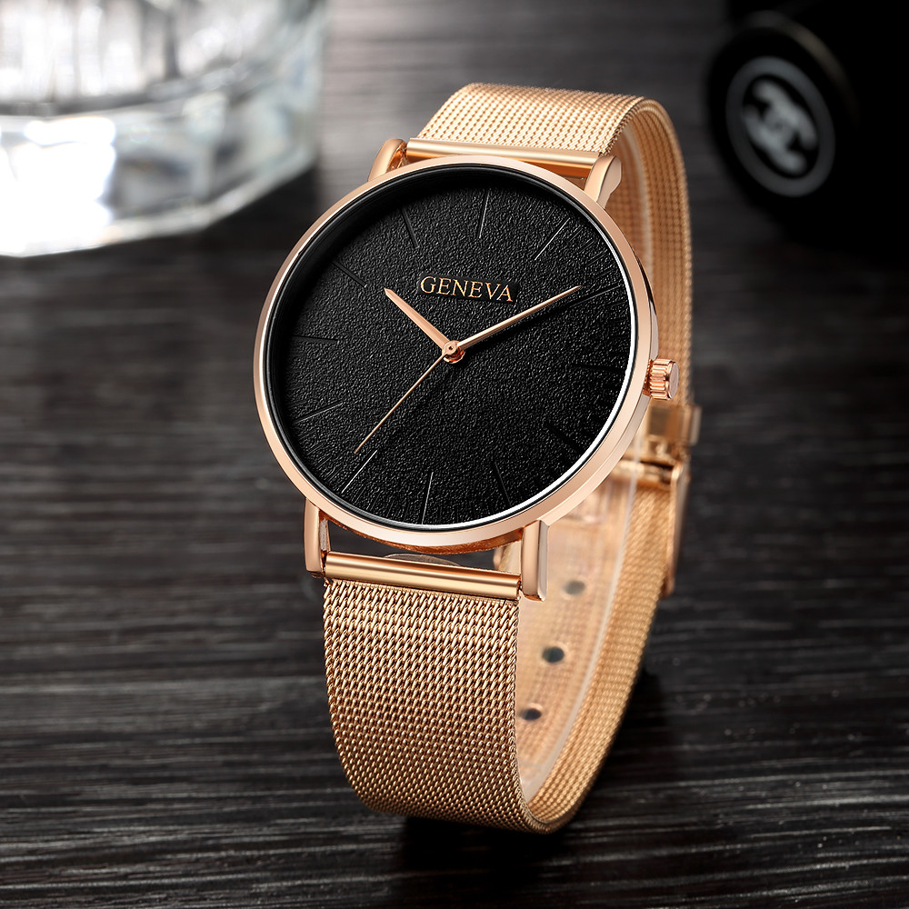 Women's Watch Rose gold Women's Watch 2020 women mesh belt ultra-thin fashion relojes para mujer luxury wristwatches reloj mujer Pakistan