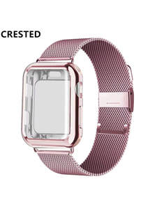 Strap Bracelet Apple-Watch-Band Watch-Series Stainless-Steel 40mm 38mm 42mm for 44-Mm