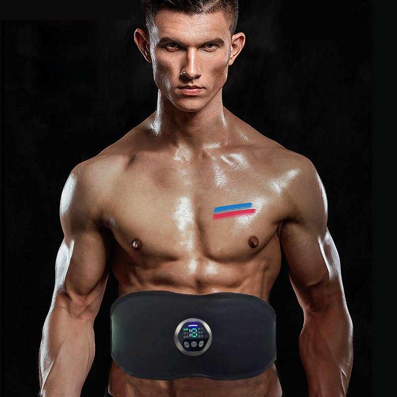 EMS Abdominal Stimulator Slim Belt Muscle Toner - Abdominal Toner-Training Device for Muscles Muscle