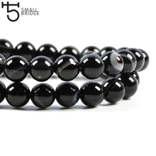6 8 10mm Natural Stone beads Black Striped Onyx Agate Round Loose Beads for jewelry making xinyao jewelry loose 40 4 6 810 12 14 f369 onyx agate beads