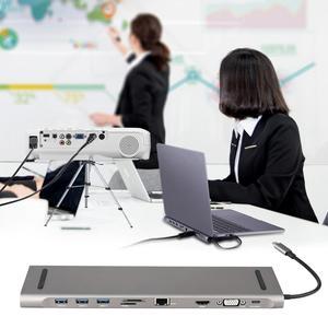 Image 3 - 6 in 1 USB di Tipo C Hub Hdmi PD Erogazione di Potenza Porta 4 Porte USB 3.0 USB C Hub Adapter per Mac book Pro Thunderbolt 4 Caricatore USB