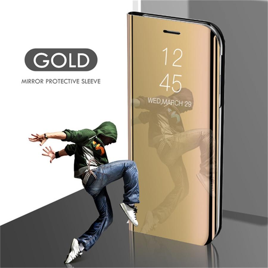 Smart mi rror чехол для телефона для Xiao mi Red mi Note 8 7 K20 5 6 iPad Pro 4 4X 8A 6 6A 7A Plus mi 9 SE 9T 8 Lite A1 A2 A3 5X 6X mi x 2 крышка - Цвет: Gold