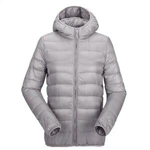 Image 5 - Zogaa bayan sonbahar kış ceket ultra hafif şişme mont kadın rüzgar geçirmez sıcak giysiler Packable uzun kaban artı boyutu kadın Parkas