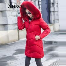 Wnter Jacket Women Winter Female Long Jacket Fur collar Winter Coat Women Plus size S-5XL Parka Women Warm down Jacket Coat