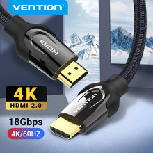 Vention kabel HDMI 4K/60HZ kabel HDMI do HDMI do Mi Box TV, pudełko HDMI 2.0 przełącznik kabla Audio Splitter do kabla Xiaomi PS4 HDMI