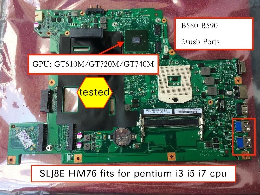 For Lenovo B590 Intel Motherboard S989 SLJ8C HM77 90001841 11S90001841