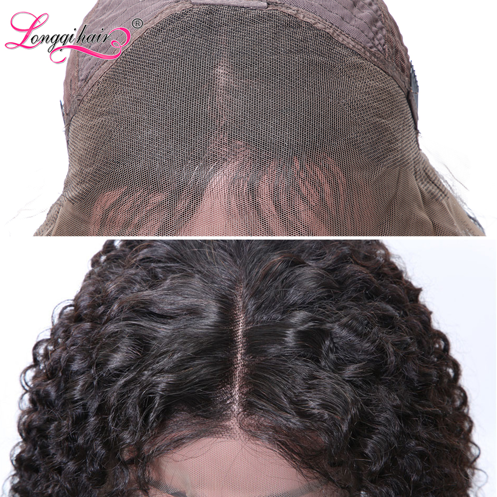 H4c51d9a1036f4001a7bb9f26bf29536fJ Longqi Hair 13X4 13x6 Lace Front Human Hair Wigs Remy Brazilian Curly Human Hair Wigs Frontal Wig for Women 10 - 24 Inch
