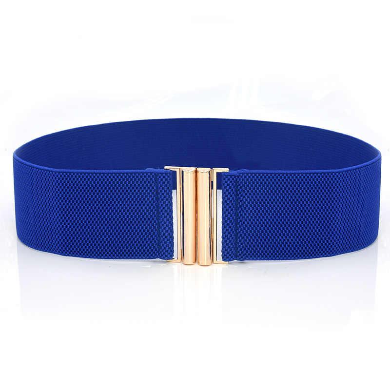 1pc Women's Belt Stretch Skinny Elastic Wide Corset Tie Wrap Waist Soft Vintage Femme Red Black Blue Dress Belt Accessories