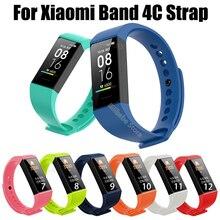 Voor Xiaomi Mi Band 4C Band Polsband Sceen Protector Voor Redmi Band Siliconen Armband Voor Mi Band 4c Correa Smart accessoires