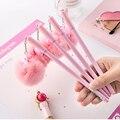 1 шт розовая гелевая ручка в виде фламинго красивые  из плюша Лебеди ручки для школы письма Девушки Подарки каваи нейтральные ручки канцеляр...