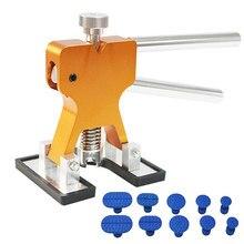 Herramientas de reparación de abolladuras sin pintura para coche, Kit de reparación de abolladuras, extractor de abolladuras con pegamento, lengüetas, Kits de eliminación