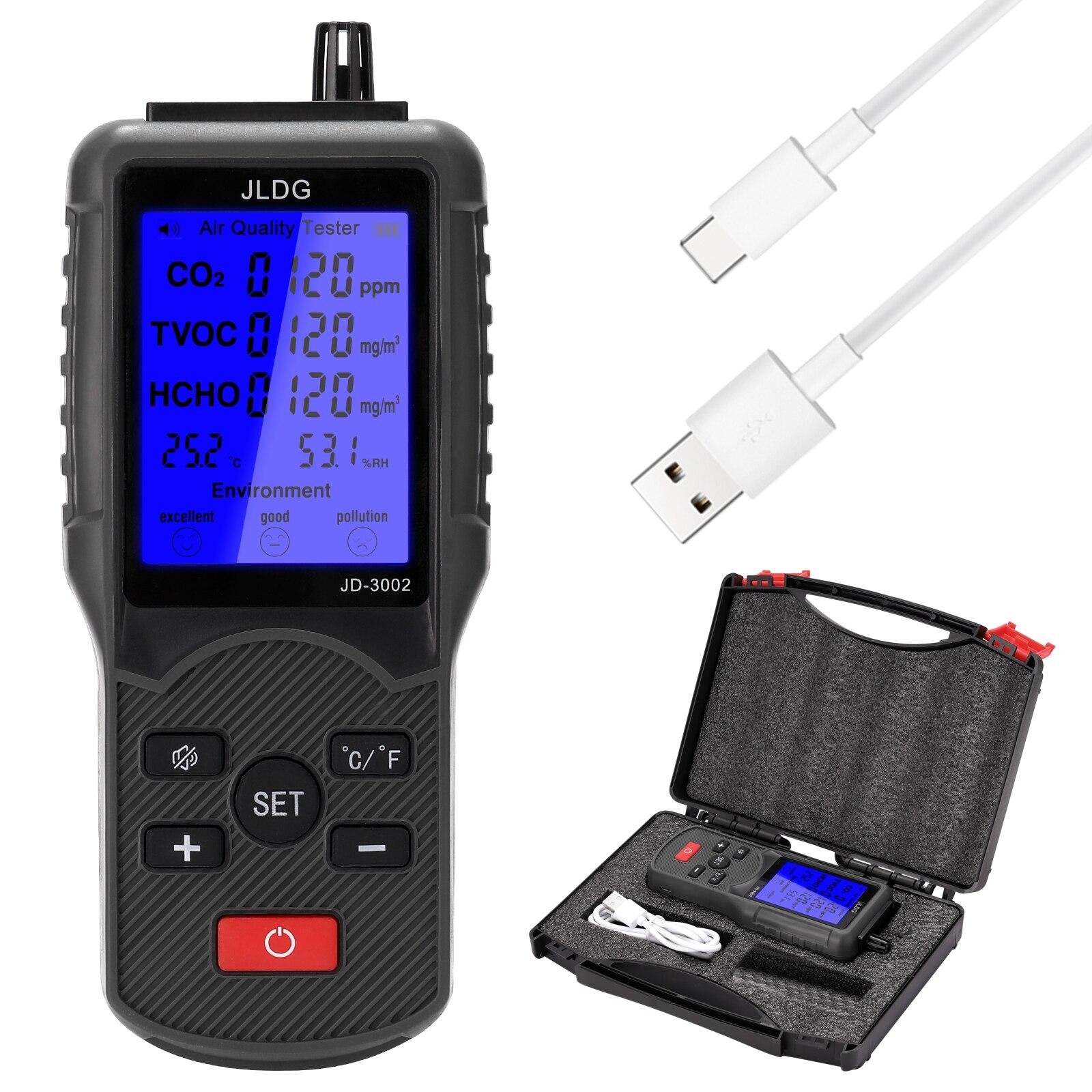 Измеритель Co2, детектор датчика Co2, монитор качества воздуха, анализатор воздуха с дисплеем температуры и влажности, диапазон измерения ...