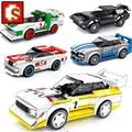 Sembo Blöcke Geschwindigkeit Champions Stadt Racer Berühmte Auto Fahrzeug Super Diy Kinder Moc Spielzeug Sets Modell Gebäude Sport 2021 Technologie