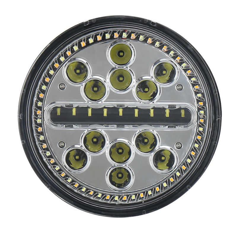 クロスボーダー新 7 インチラウンドケーキランプエンジェルアイサークル変更白色 led ヘッドランプ黄 ri 行自動ランプ