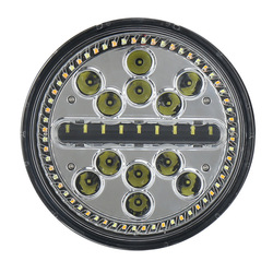 Cross-border new 7 inch round cake lamp with angel eye circle change white LED headlamps Huang Ri row to auto lamp