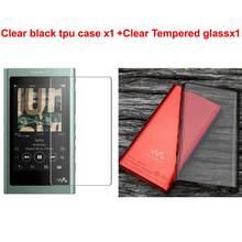 Мягкий защитный чехол из ТПУ для Sony Walkman NW-A50 A55 A56 A57 A55HN A56HN A57HN с закаленным стеклом