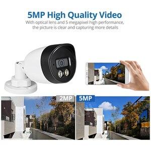 Image 3 - KERUI sistema de cámaras de seguridad H.265, 8 canales, 5MP, Kit de cámara de vigilancia Vídeo impermeable, sistema CCTV IP, registro facial, NVR, POE