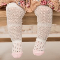 Newborn Baby Boys Girls Mesh Socks Hollow Design Cotton Anti mosquito Knee High Sock Infant Children Soft Crib Leg Warmer Pads