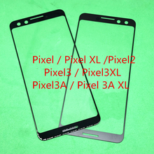 10 adet yedek LCD ön dokunmatik ekran cam dış Lens Google Pixel XL için piksel 2 piksel 3 piksel 3XL piksel 3A XL