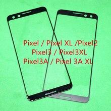 Lentille extérieure en verre décran tactile avant daffichage à cristaux liquides de remplacement de 10 pièces pour le Pixel XL de Pixel de Google 2 pixels 3 pixels 3XL Pixel 3A XL