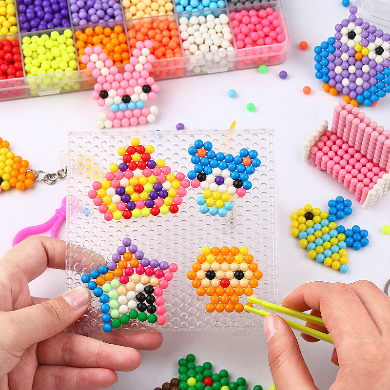 11000pcs 3D Handmade Refill Hama Beads Pearls Puzzle Kids Toys DIY Water Spray Beads Set Ball Games MagicToys for girls Children 3
