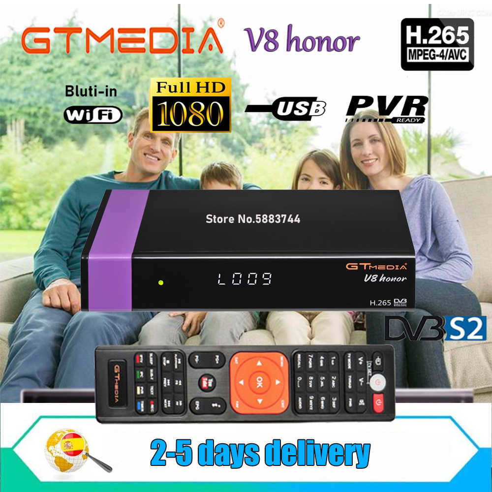 Fta Satellietontvanger Gtmedia V8 Honor DVB-s2 Full Hd Bulit Wifi Gtmedia V7S Hd Met Usb Wifi Gratis