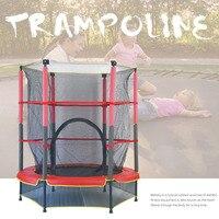 Trampolín redondo silencioso de 55 pulgadas para niños  cama elástica para niños con red de seguridad para el parque móvil del bebé