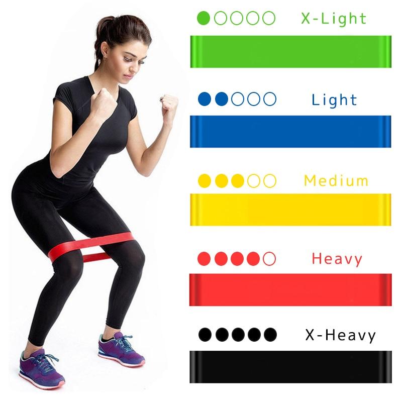 Rubber-Bands Gum Workout-Equipment Training Fitness Pilates Crossfit Yoga-Resistance