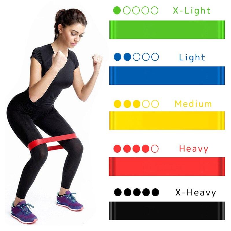 Резиновые ленты для йоги, эластичные ленты для фитнеса 0,3 мм-1,1 мм, тренировочная резинка для фитнеса, пилатеса, спортивное оборудование для кроссфита и тренировок-0