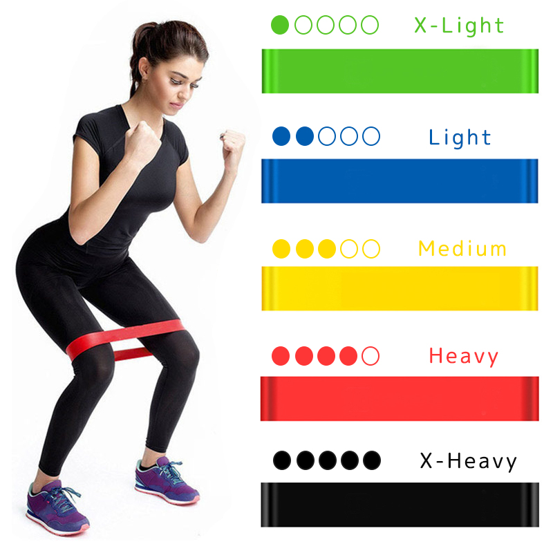 Yoga Weerstand Elastiekjes Fitness Elastische Bands 0.3Mm-1.1Mm Training Fitness Gom Pilates Sport Crossfit Workout Apparatuur