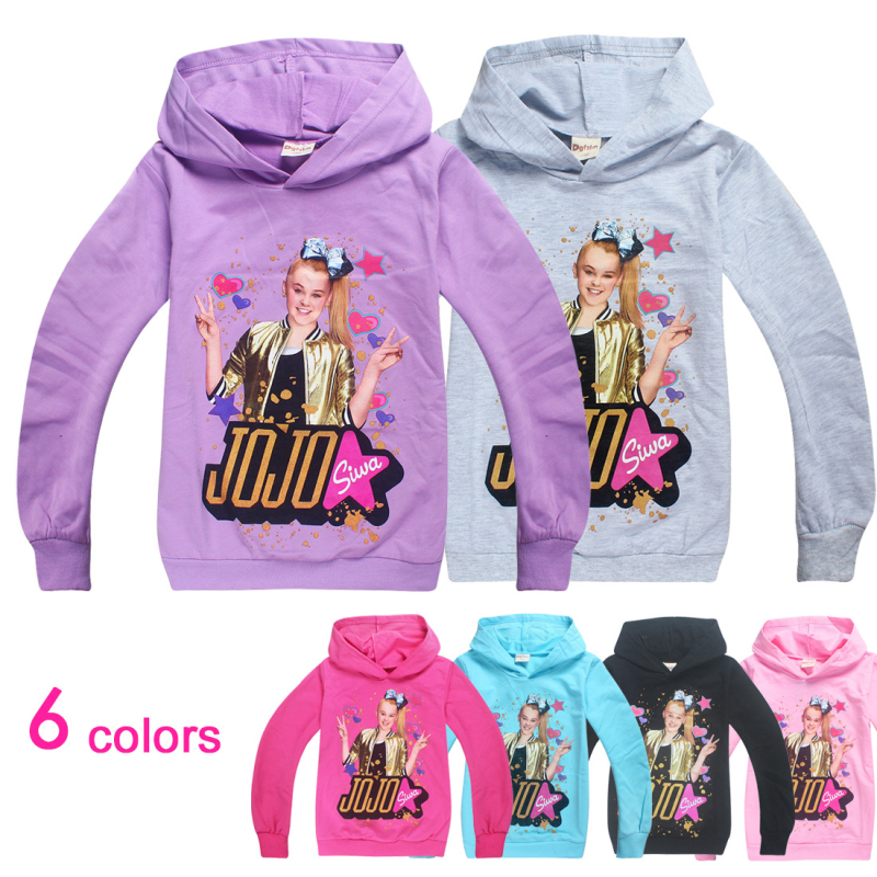 Sweatshirts Clothing Costume Hoodies Tops Spring Jojo Siwa Girls Full-Sleeves Cotton title=
