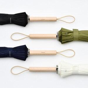 Image 2 - Tiohoh 24 k 긴 우산 비 여자 강한 windproof 일본식 단풍 나무 우산 남자 파라과이 골프 명확한 우산 큰