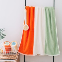 140*70cm 500g Striped Cotton Bath Towel Bathroom Decor Beach Towel Hotel Bathrob