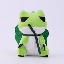 S00359 Hot Selling Doll Travel Frog Doll Plush Toys Little Frog Bag Keychain(China)