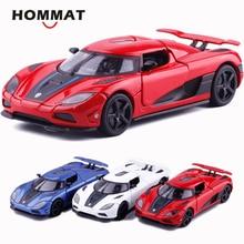 HOMMAT סימולציה 1/32 Supercar Koenigsegg Agera R ספורט סגסוגת 1:32 Diecasts & צעצוע כלי רכב מכוניות דגם מכוניות צעצועים לילדים